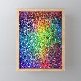 Colorful faux glitter print Framed Mini Art Print