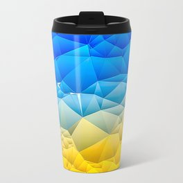 Sunshine and Blue Sky Quilted Abstract Travel Mug