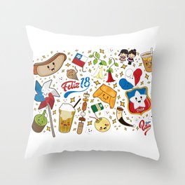 Feliz 18 Throw Pillow