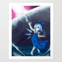 Don't mess with Cirno Art Print