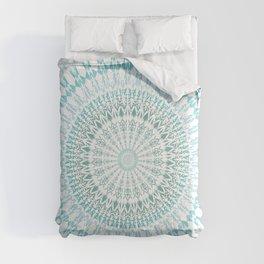 Turquoise White Mandala Comforters