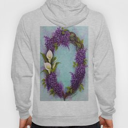 Calla Lilly And Lilacs Wreath Original by DonnaLee Hoody