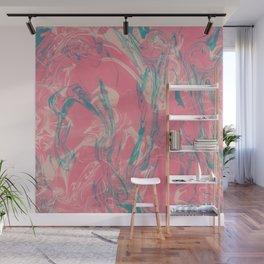 Adrift - Abstract Suminagashi Marble Series - 04 Wall Mural