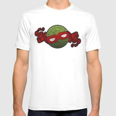 the red turtle Mens Fitted Tee White MEDIUM