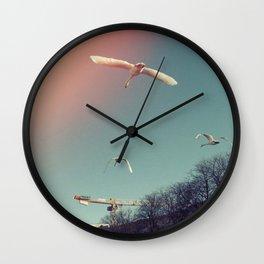 Swans over Berlin Wall Clock
