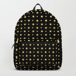 Twinkling Sparkling Golden Stars Backpack