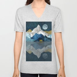 Wild North Blues Night Unisex V-Neck