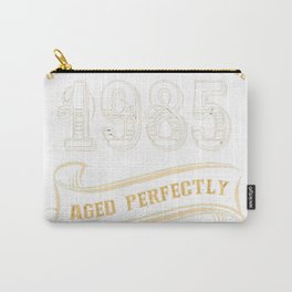 32nd-Birthday-Gift-Gold-Vintage-1985-Aged-Perfectly Carry-All Pouch