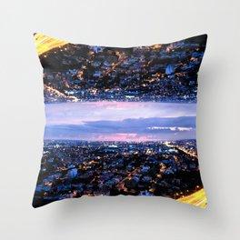 Mirrored City Throw Pillow