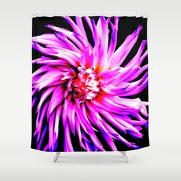 Electro Floral Fun Shower Curtain