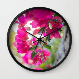 Color Bugambilia Wall Clock