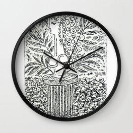 Sculpture in Garden Wall Clock