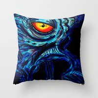 dalek Throw Pillows featuring EMPEROR DALEK by alexSHARKE