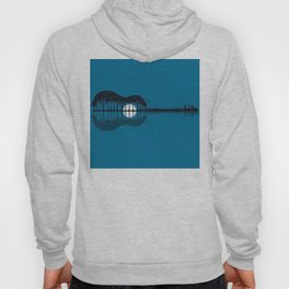 Trees sea and the moon turned guitar Hoody
