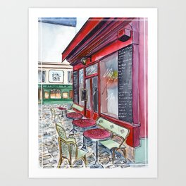Afternoon cafe Art Print