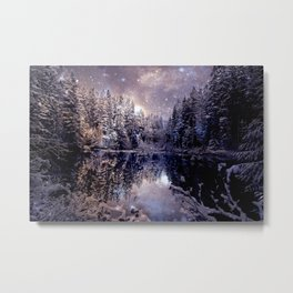 A Cold Winter's Night Neutral Metal Print