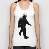 bigfoot Tank Tops featuring Bigfoot by Zombie Rust