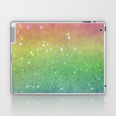 rainbow glitter Laptop & iPad Skin
