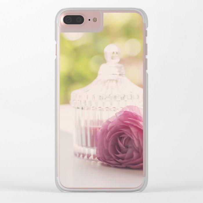 Princess like I Rose flower vintage stilllie Clear iPhone Case