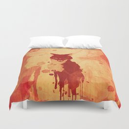 Glimpse Of A Fox In The Forest Duvet Cover