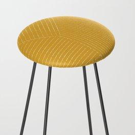 Lines (Mustard Yellow) Counter Stool