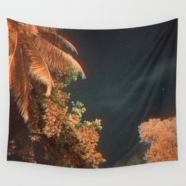 Seychellian palmtrees and the Milky Way Wall Tapestry