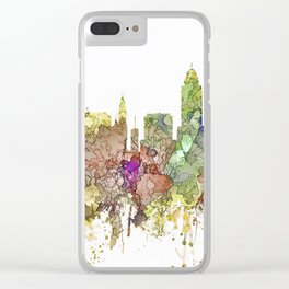Lincoln, Nebraska Skyline - Faded Glory Clear iPhone Case