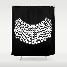RBG Collar, Ruth Bader Ginsburg Tribute Shower Curtain