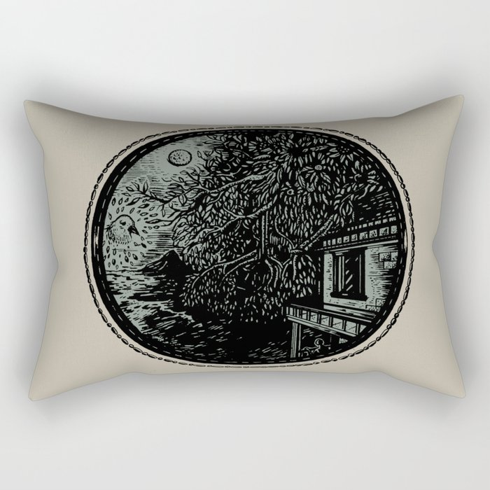 Miniature Circle Landscape 1: Morning Vision Rectangular Pillow
