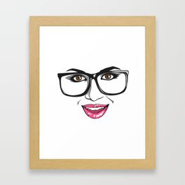 Smart chick Framed Art Print