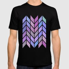 blue & purple chevron Black Mens Fitted Tee MEDIUM