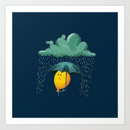 cactus cloud Art Print