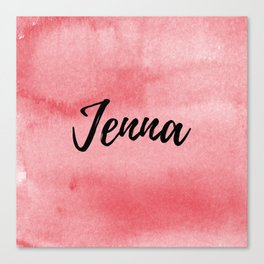 Red Watercolor Jenna Canvas Print
