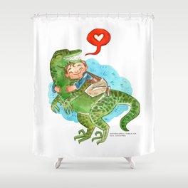 Jurassic World Hug Shower Curtain
