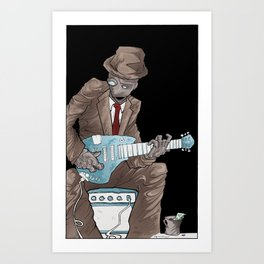 In the Future, Even Droids Sing the Blues Art Print
