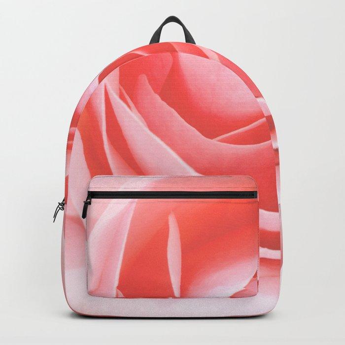 Velvet pink rose - Roses Flowers Flower Backpack