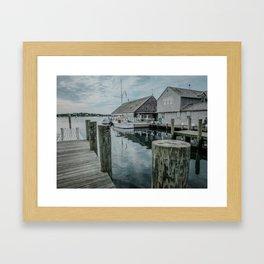 Fishing Dock - Edgartown Framed Art Print