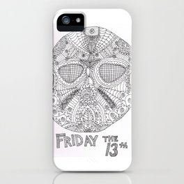 Hockey Mask Doodle iPhone Case