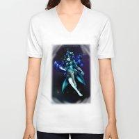 berserk V-neck T-shirts featuring Berserk Cyborg Panda by Berserk Cyborg Panda