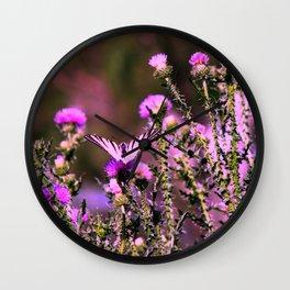 Butterfly on Meadow Wall Clock