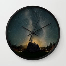Moments of happiness Wall Clock