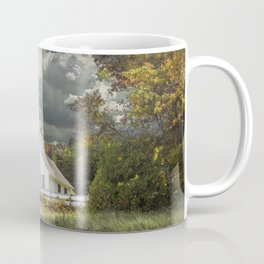 Old Mission Point Lighthouse in Early Autumn Coffee Mug