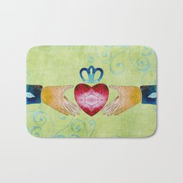 Colorful Inspirational Art - Friendship - Sharon Cummings Bath Mat