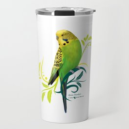 Green Parakeet Travel Mug
