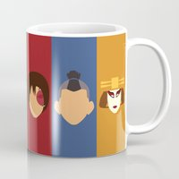 aang Mugs featuring Team Avatar by Adrian Mentus