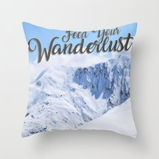 Feed your Wanderlust Throw Pillow