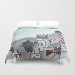 Oia Santorini Duvet Cover
