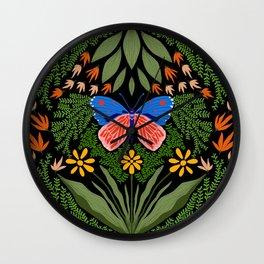 Butterfly in The Garden 03 Wall Clock