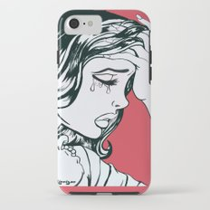 Crying Red Vintage Comic Book Painting  iPhone 7 Tough Case