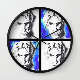 Lectric Blue Collage Wall Clock